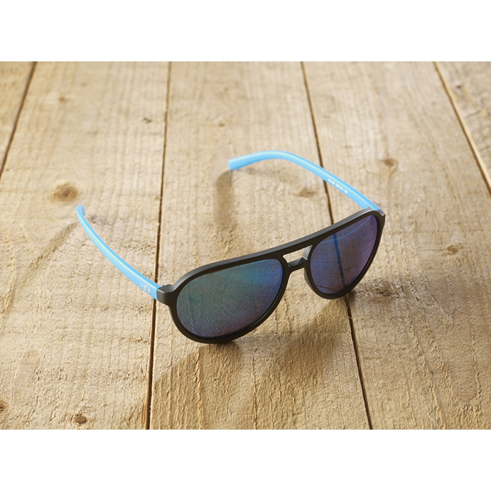 Bologna black/blue mirr by eco-sunglasses.com