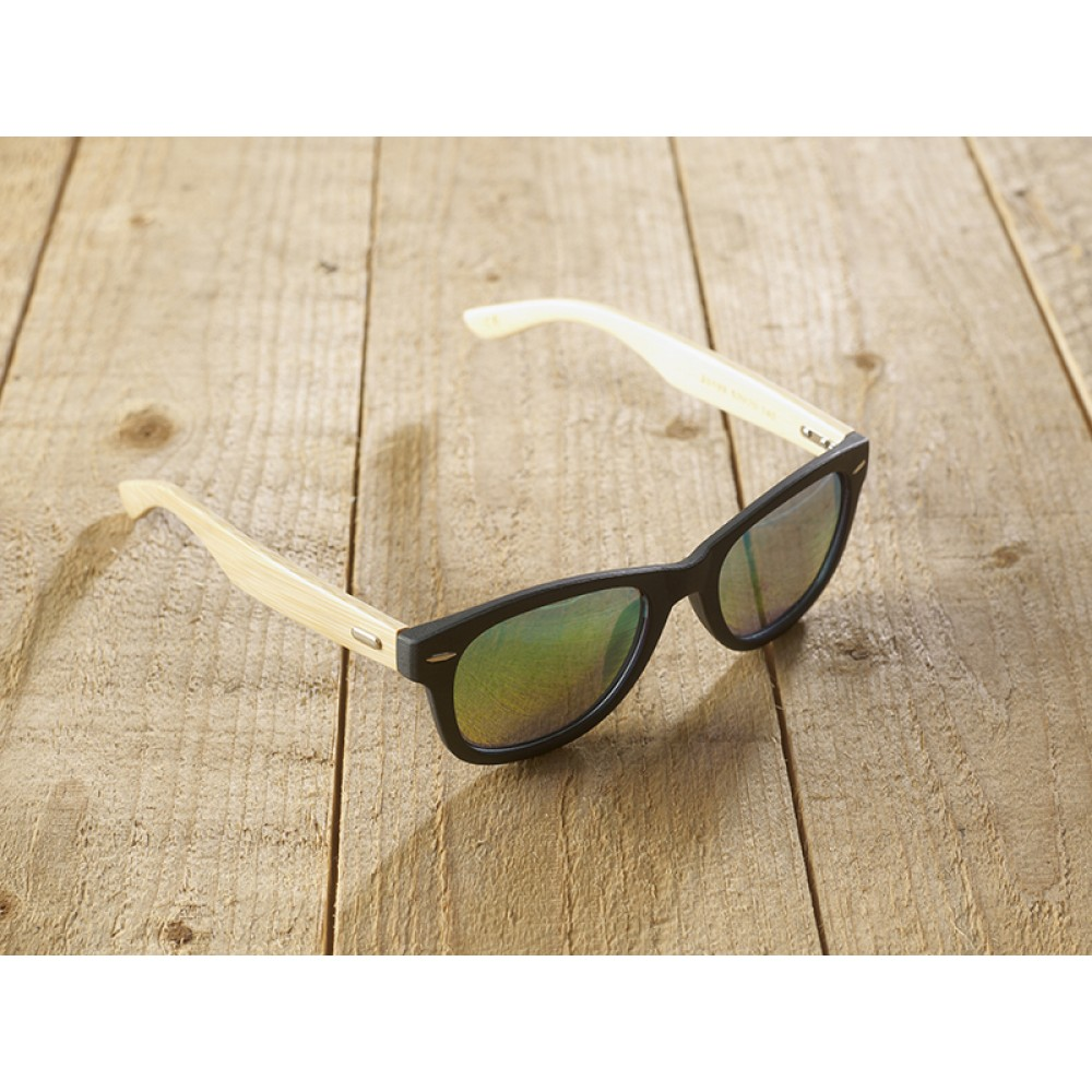Genua black unisex mirr blue by eco-sunglasses.com