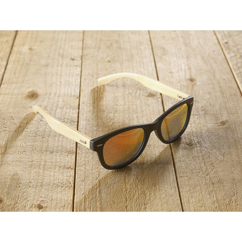 Genua black unisex mirr orange by eco-sunglasses.com