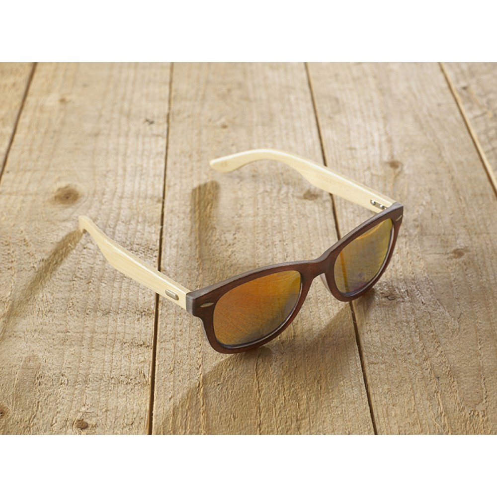 Genua Brown unisex mirr orange by eco-sunglasses.com