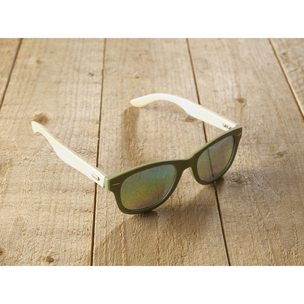 Genua Green unisex mirr blue by eco-sunglasses.com