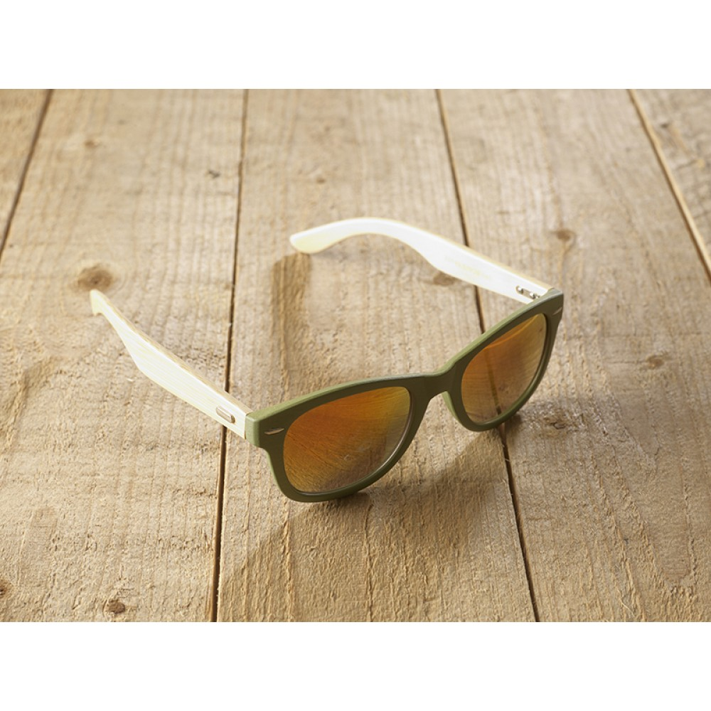 Genua Green unisex mirr orange by eco-sunglasses.com