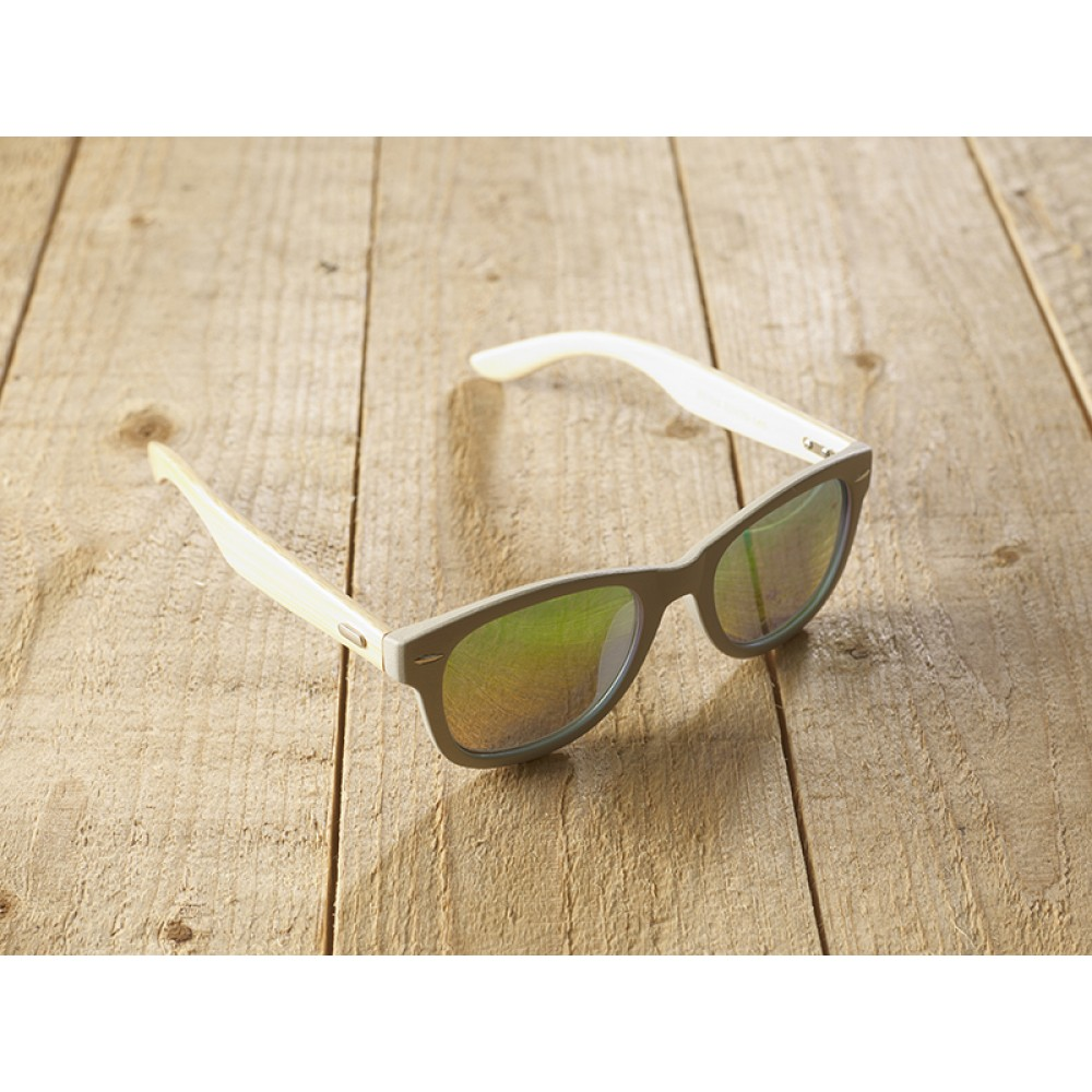 Genua Grey unisex mirr blue by eco-sunglasses.com