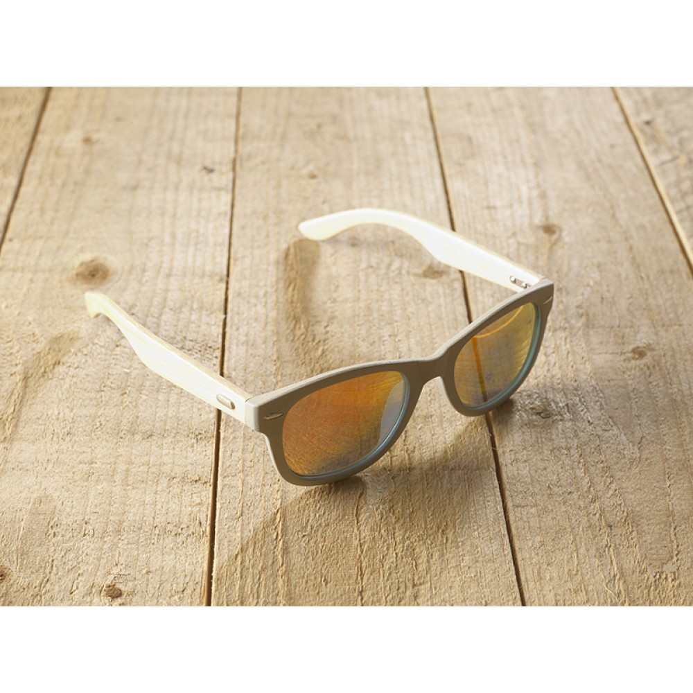 Genua Grey unisex mirr orange by eco-sunglasses.com