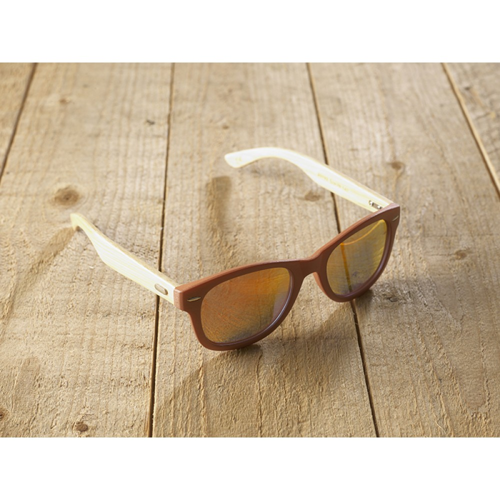 Genua terra unisex mirr orange by eco-sunglasses.com