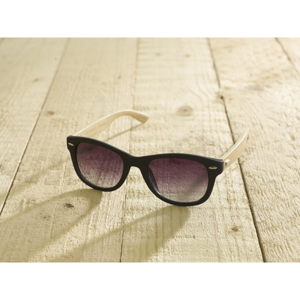Trento Black unisex by eco-sunglasses.com