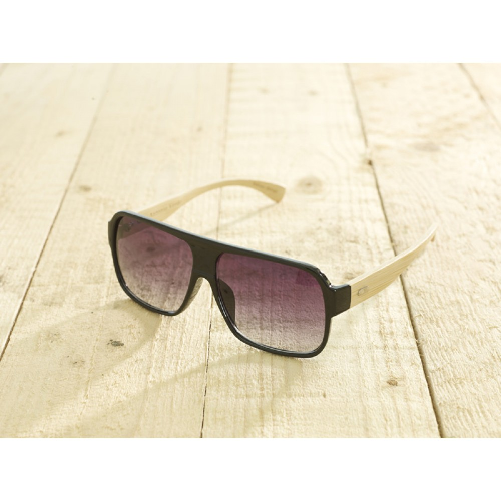 Venice Black Shiny unisex by eco-sunglasses.com